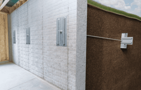 Wall plate anchors for bowing basement wall