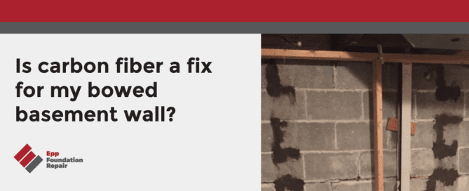 Is carbon fiber a fix for my bowed basement wall?
