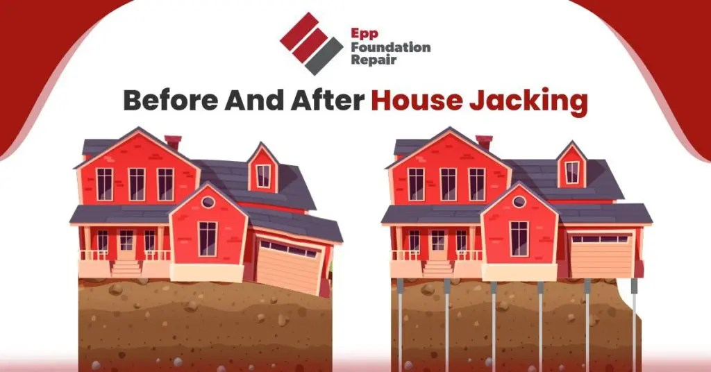 before and after house jacking