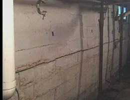 bowing basement wall structural crack