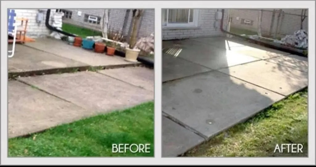 Photo of concrete lifting before and after