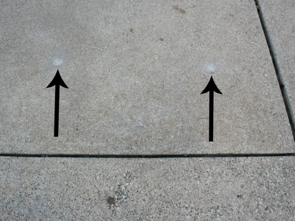 concrete sidewalk after it has been lifted using concrete lifting foam