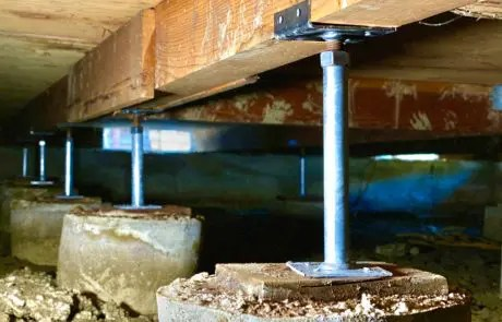 photo of crawl space support jacks