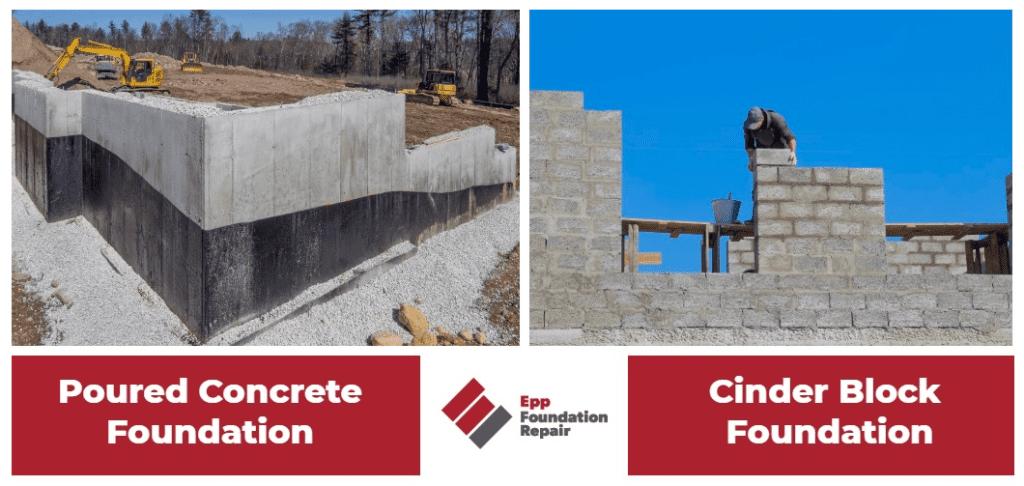 Infographic: Poured concrete foundations vs cinder block foundations