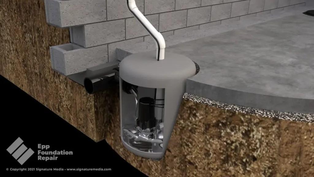 Illustration of a sump pump