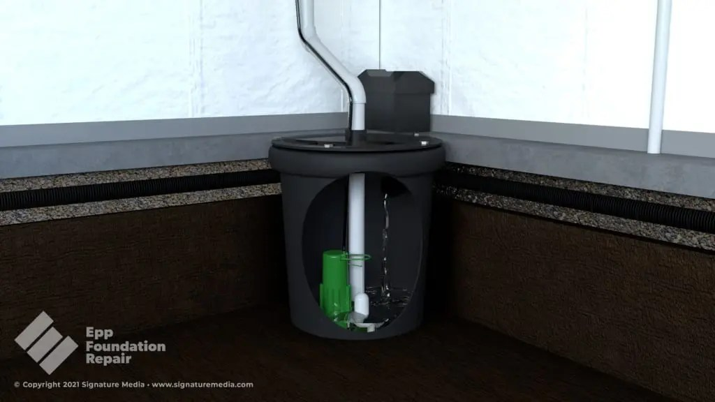 sump pump for french drain basement waterproofing