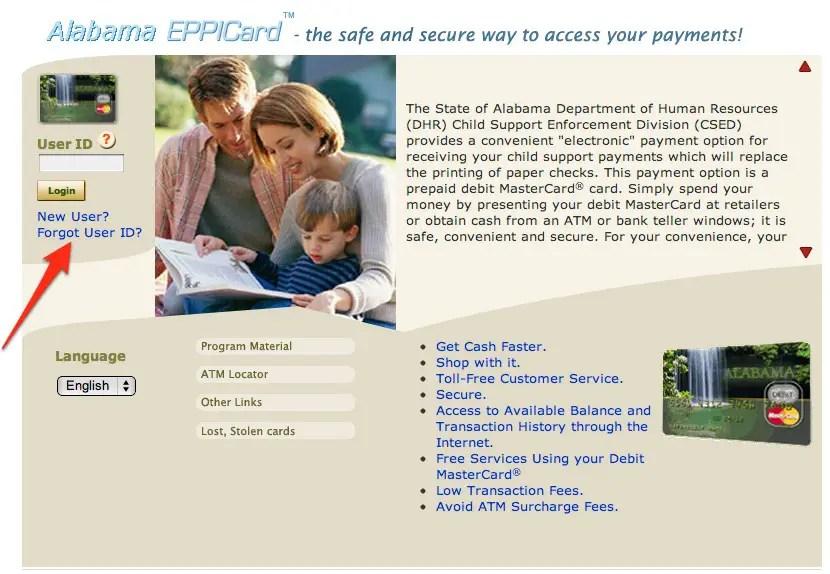 www eppicard com alabama check balance