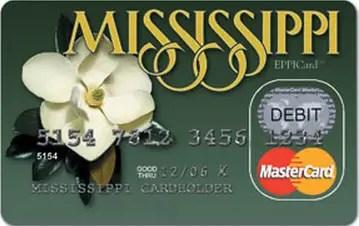Mississippi Unemployment Card