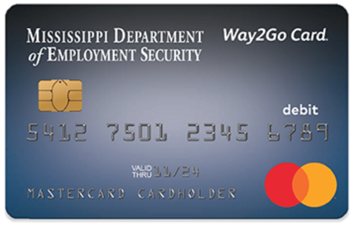 Mississippi Way2Go Card for Unemployment