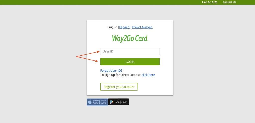 Way2Go Debit Card Florida Login