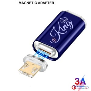EKING Magnetic USB Micro Female to Micro USB Male Adapter