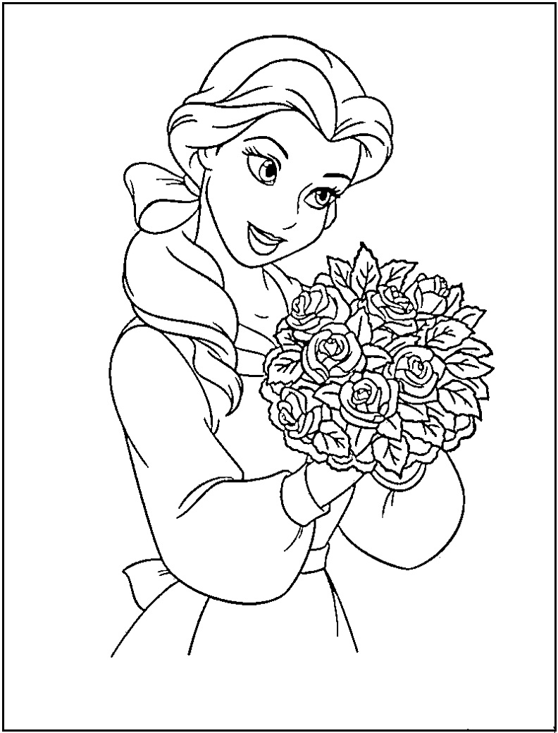 Disney Princess Belle Free Printable Coloring Pages For Kids