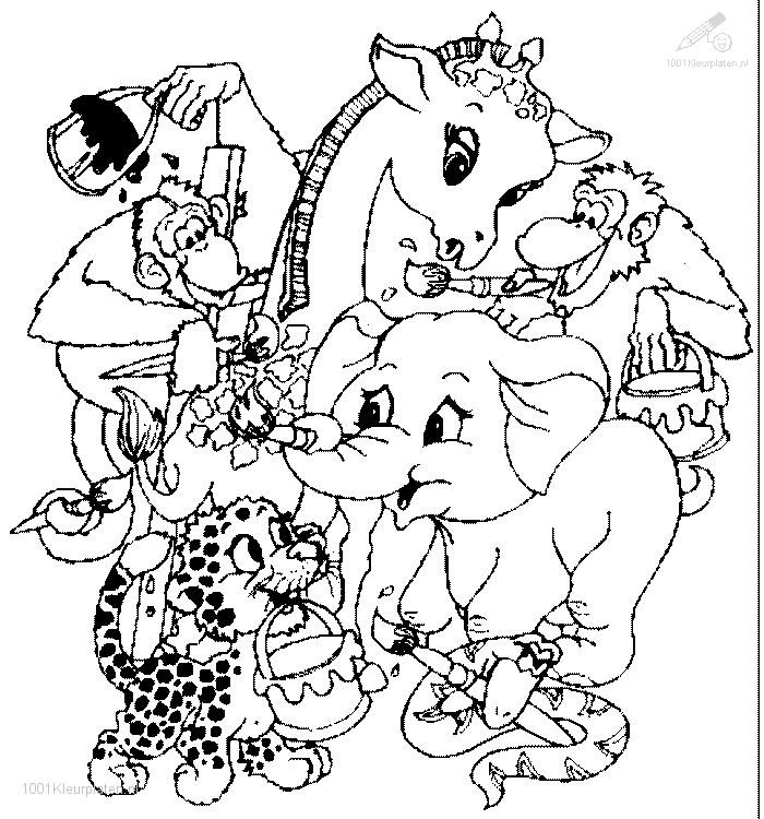 Group Animals Free Coloring Pages Free Printable Coloring
