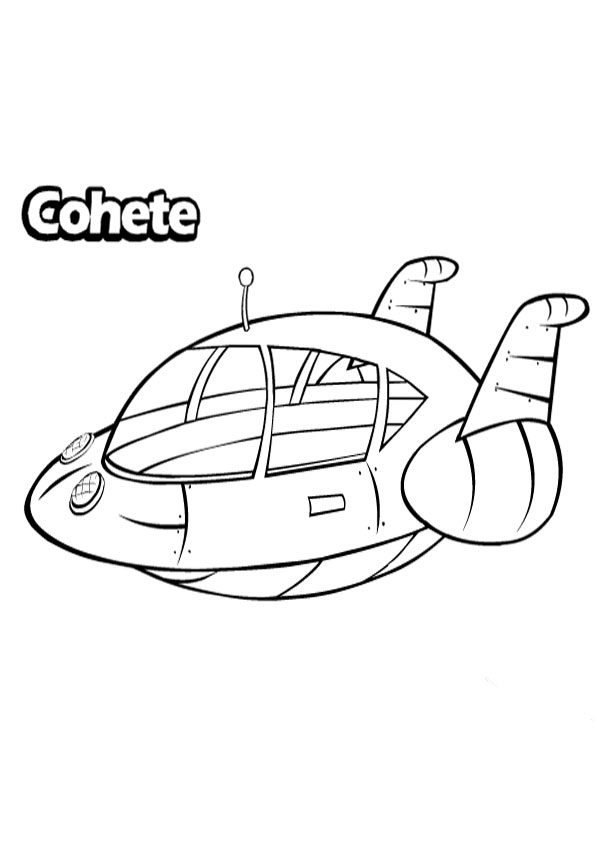 Little Einsteins Plane Coloring Pages Free Printable