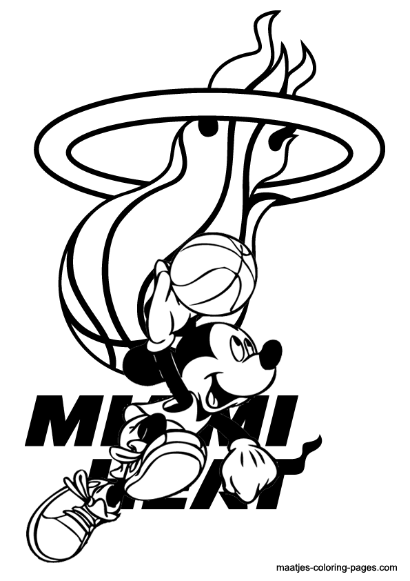 Magic Miami NBA Free coloring pages Free Printable
