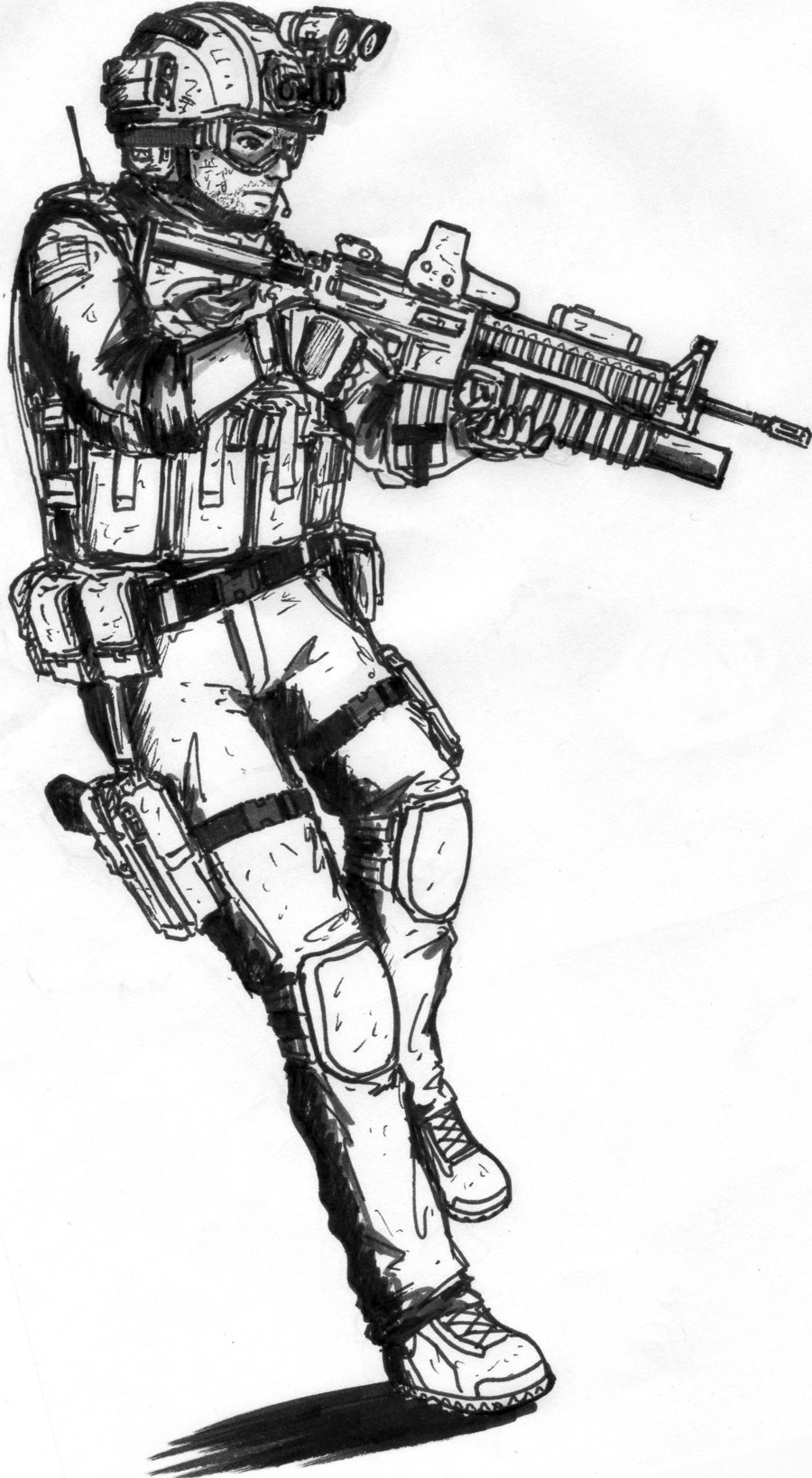 Men Delta Force Sandman MW3 Free coloring pages Free