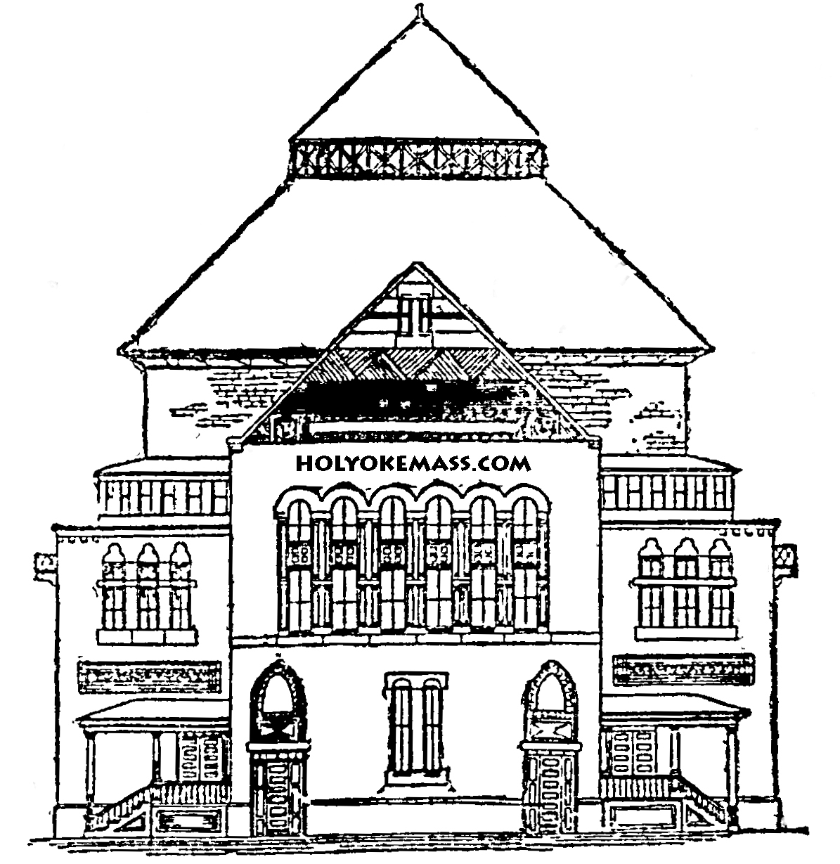 School House Coloring Page For Adults Free Printable