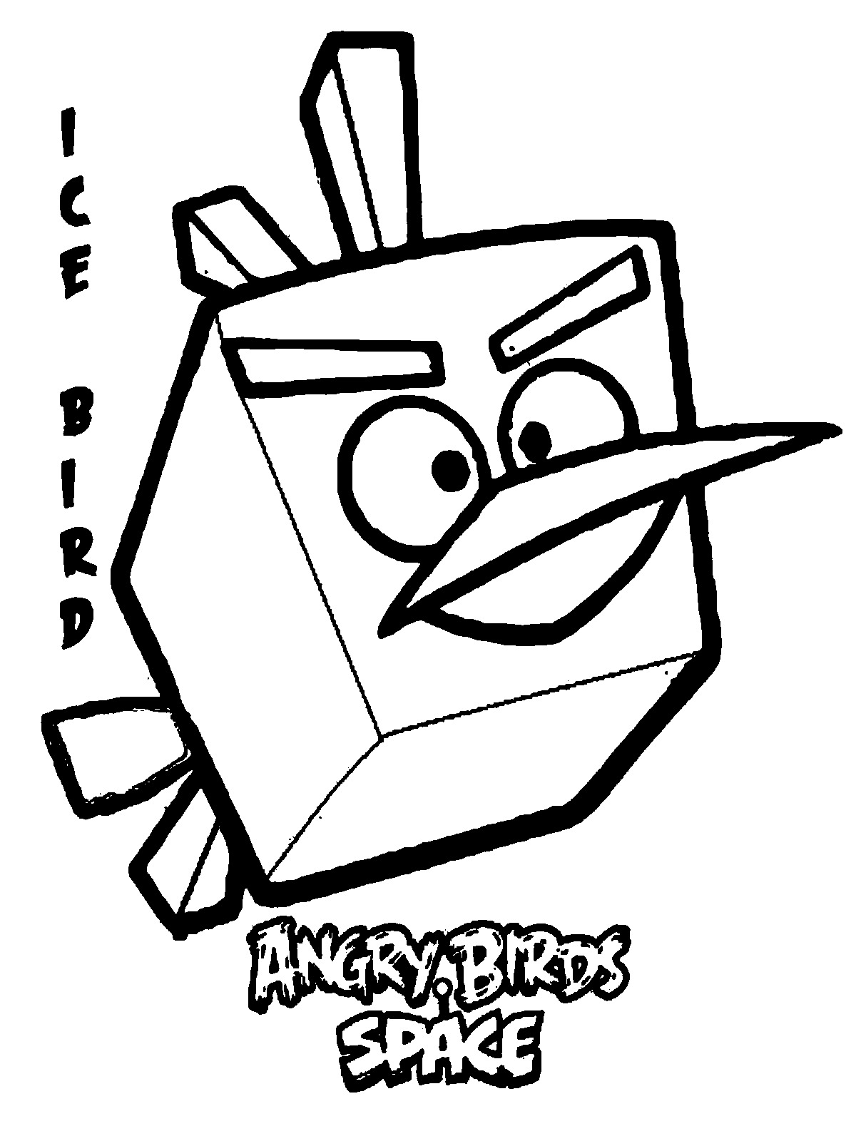 Space Angry Birds Coloring Pages For Kids Realistic Coloring