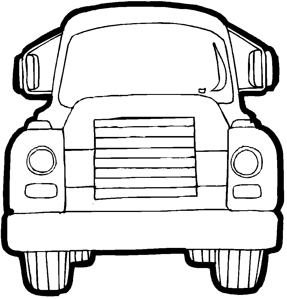 Free Coloring Pages Trucks Letscoloringpages Old Front