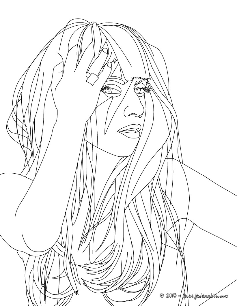 Lady Gaga Coloring Pages Best Coloring Page Lady Gaga Hair