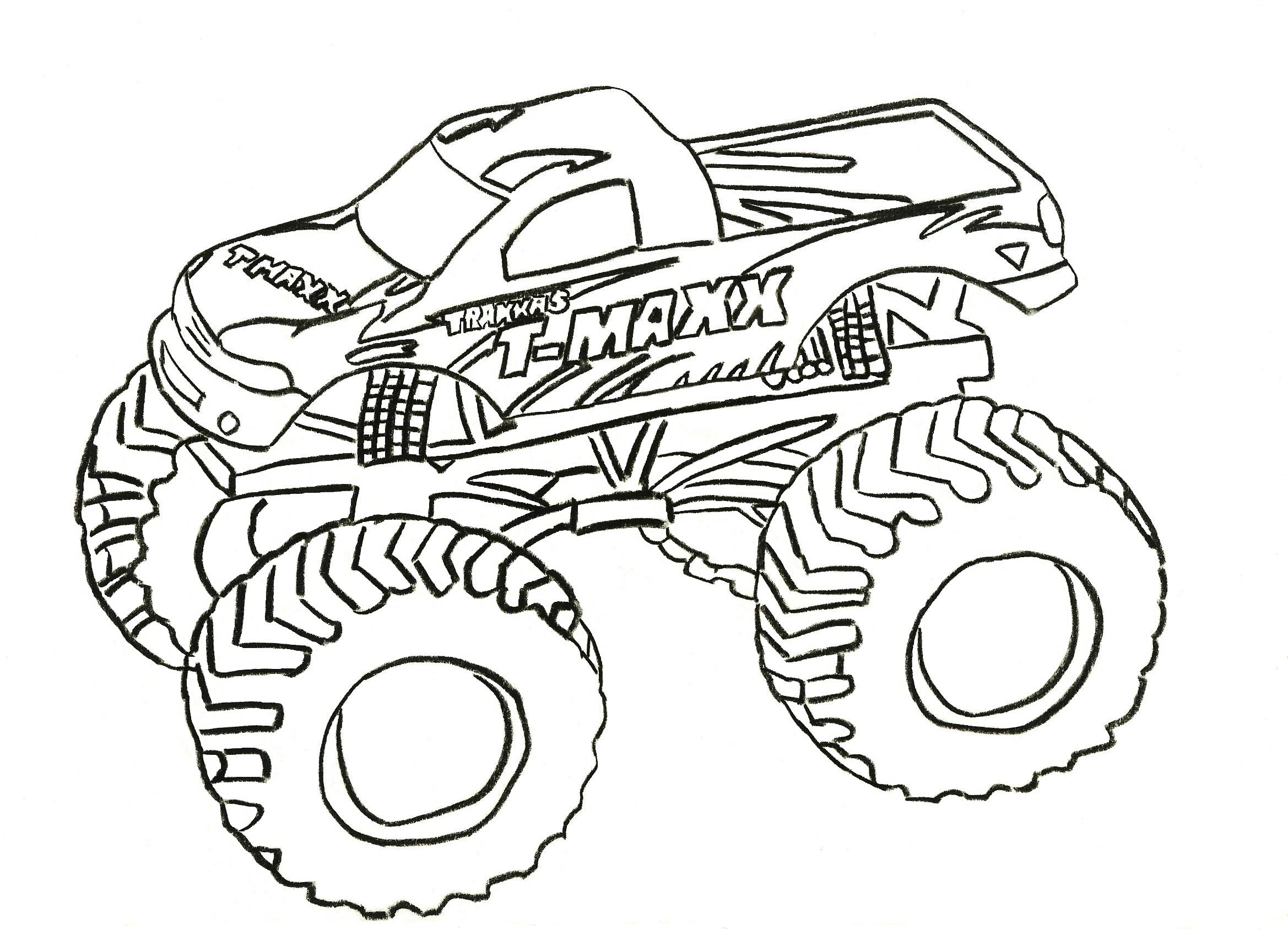 Monster Truck Coloring Pages Letscoloringpages T Maxx Free Printable Coloring Pages For