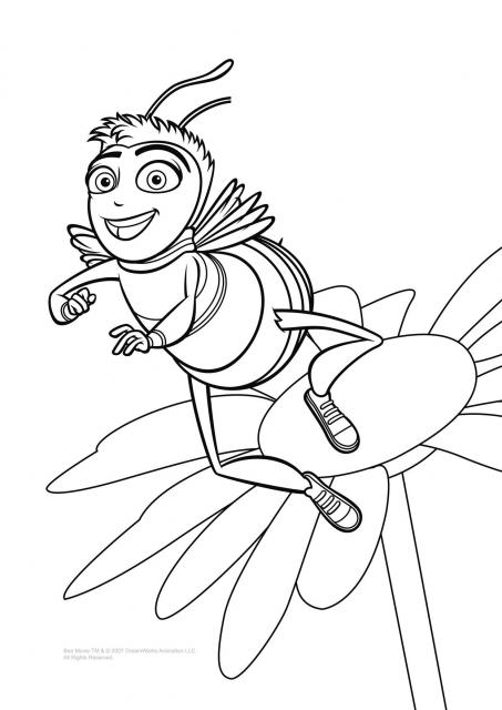 Bee movie flower coloring pages Free Printable Coloring