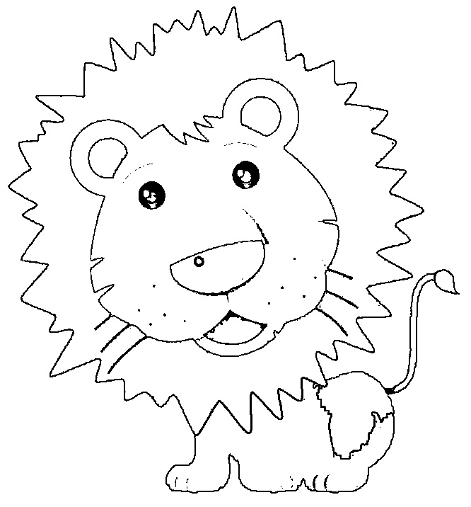 Cute lion Preschool coloring pages Free Printable Coloring