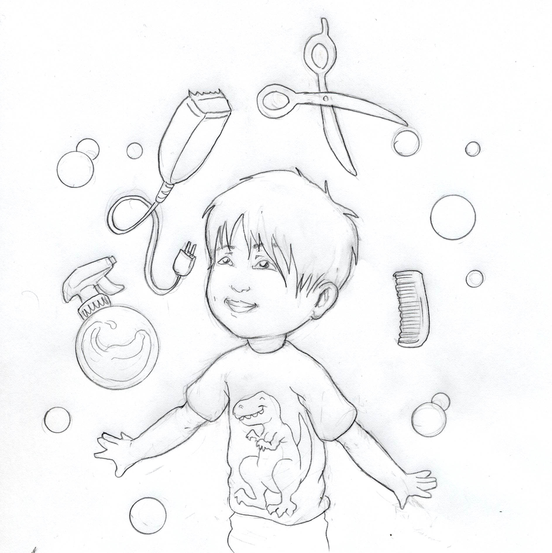 Luca Hair Coloring Pages