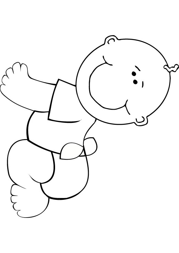 Happy Baby coloring pages Free Printable Coloring Pages