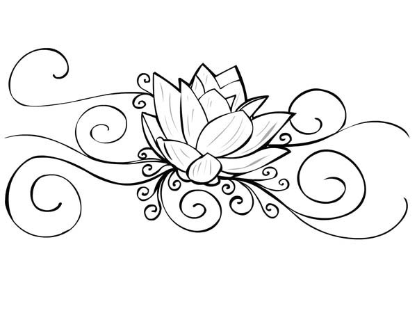 Lotus Flower Tattoo coloring pages Free Printable Coloring