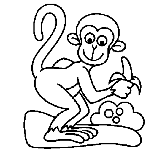 Monkey Coloring Pages Page 10