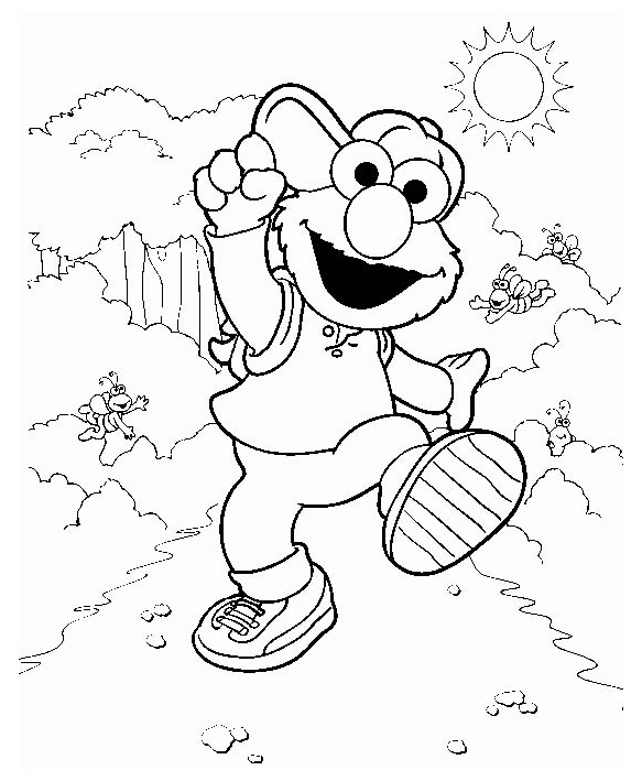 Training Elmo coloring pages Free Printable Coloring Pages