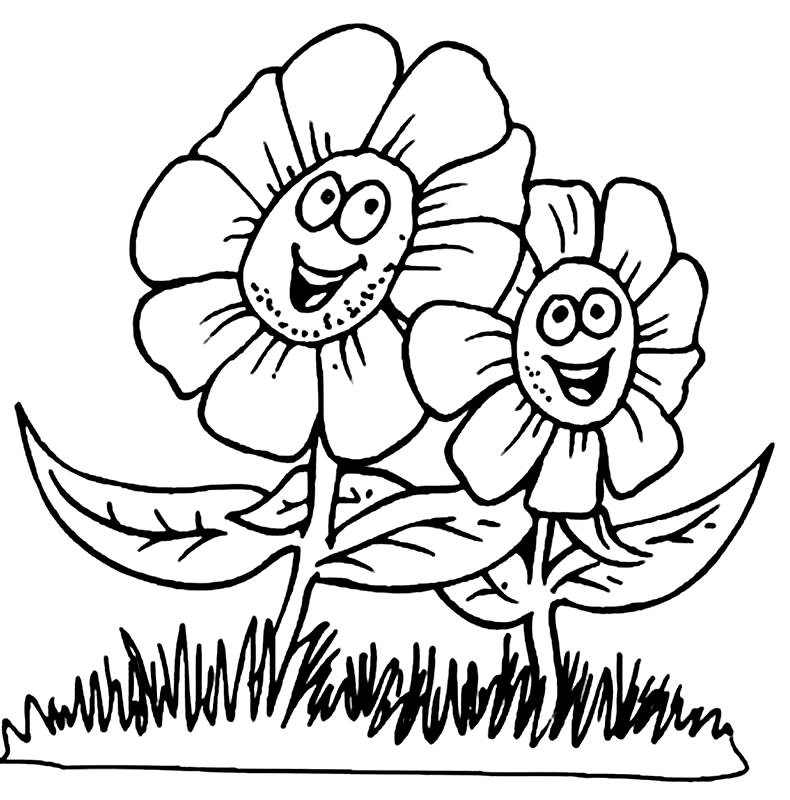 Spring Coloring Pages FLOWERS Free Printable Coloring