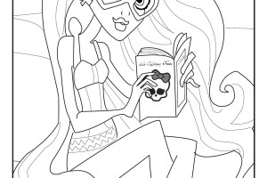 Small Monster High Coloring Pages Abbey Free Printable