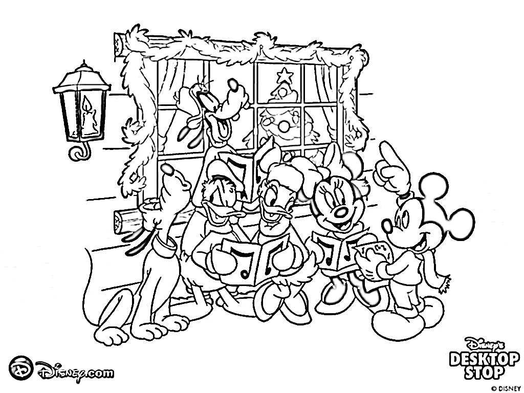 All Family Of Disney Coloring Pages Christmas Coloring Pages For