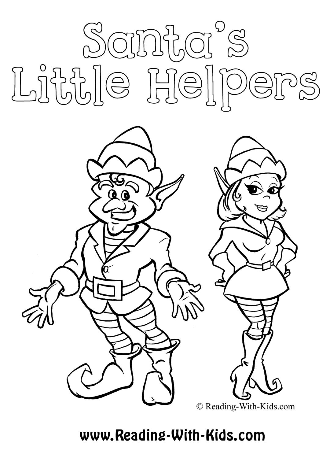 Little Helpers Coloring Pages Christmas