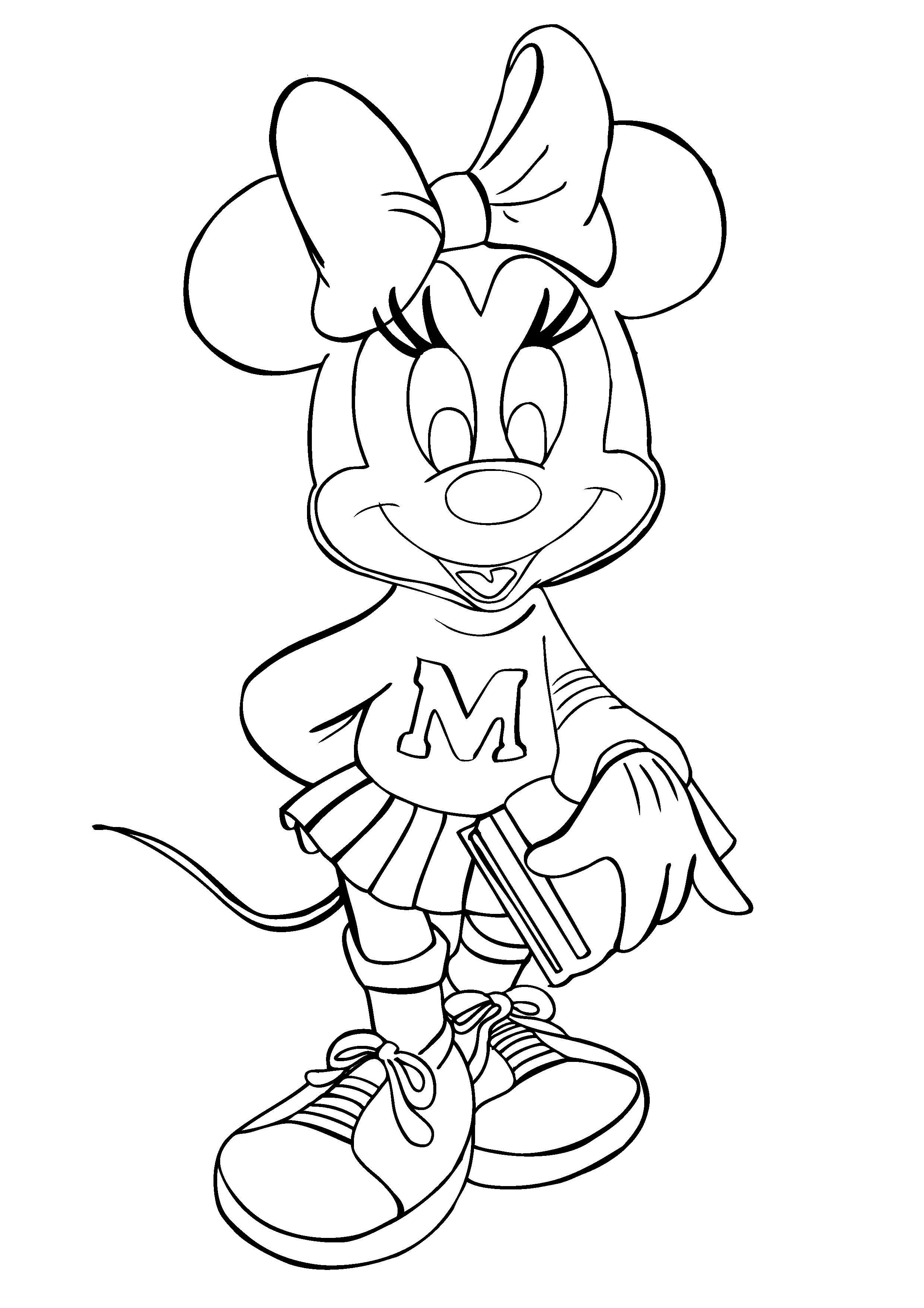 Minnie Mouse Coloring Pages