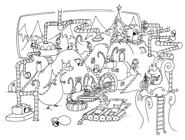 Christmas Village Coloring Pages Printable Coloring Pages