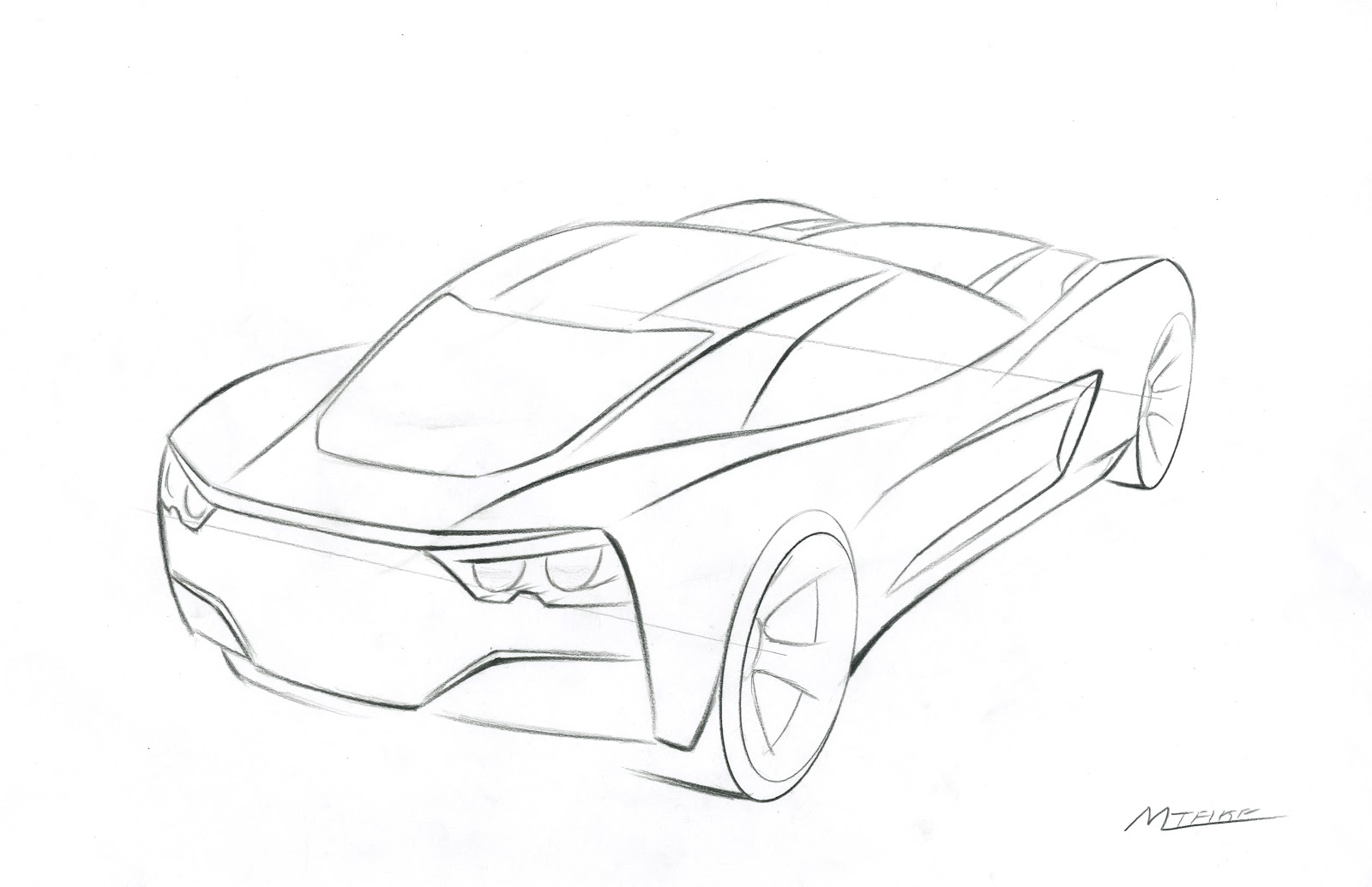 Drawing Corvette Car Coloring Pages Race Car Coloring Pages Free