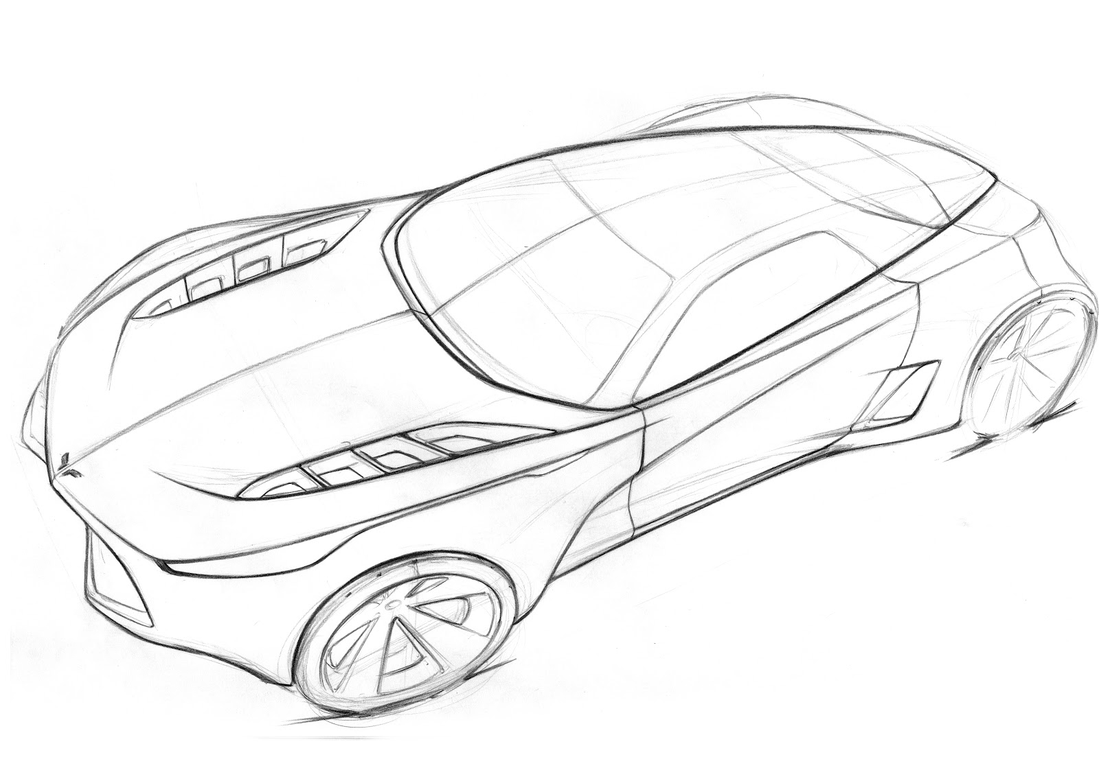 Drawing Hot Corvette Car Coloring Pages Race Car Coloring Pages