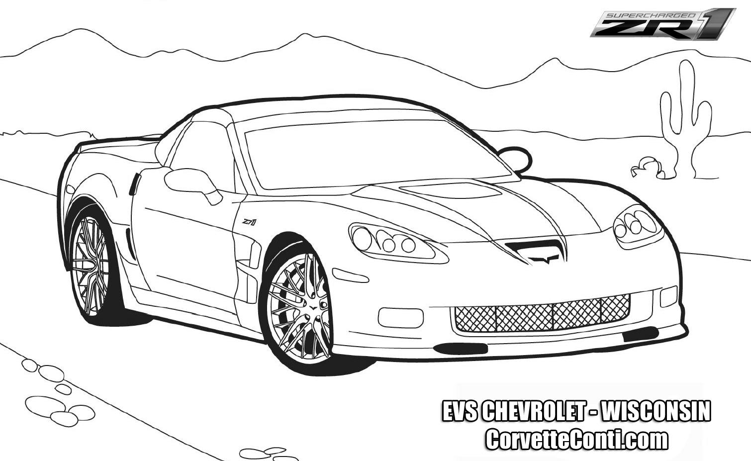 Zr1 Corvette Car Coloring Pages