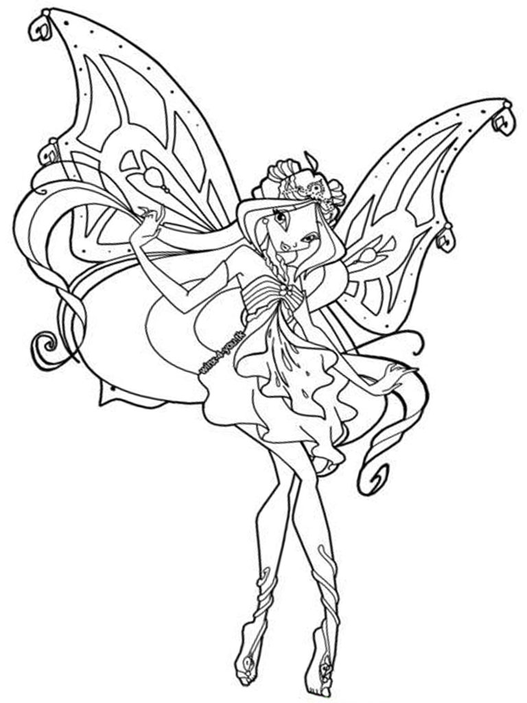 Winx Club Coloring Pages Hot Winx Club 4 Free Printable