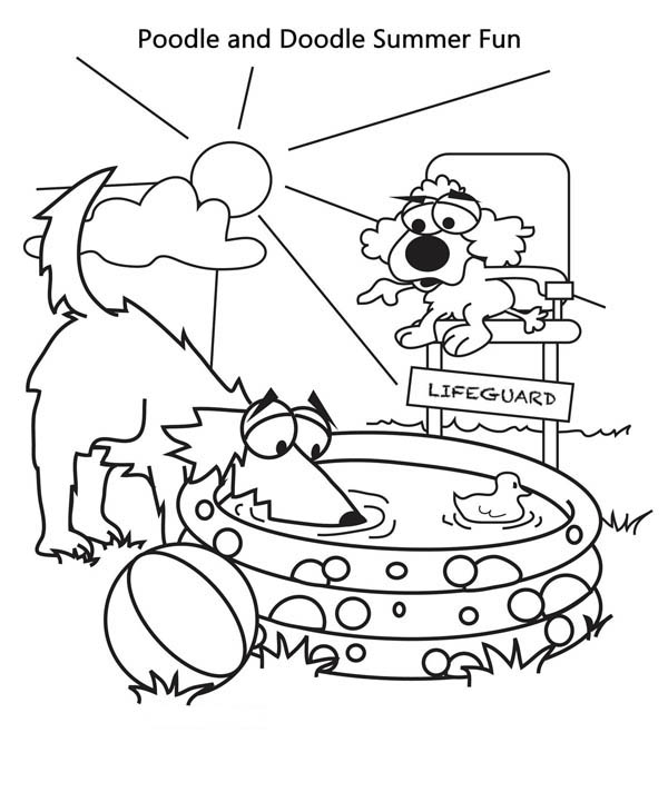 Summer Traveling Coloring Pages