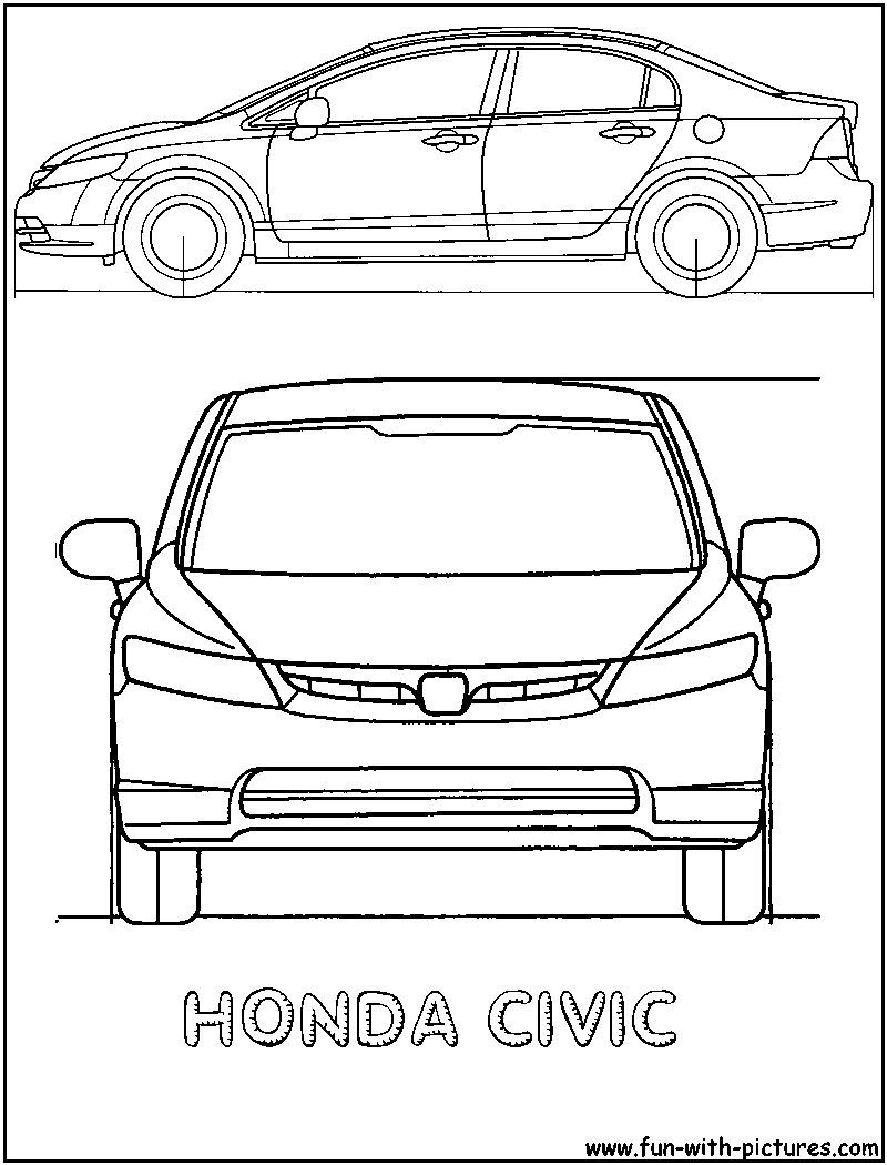 Honda Civic Family Cars Coloring Pages Kids Coloring Pages Free