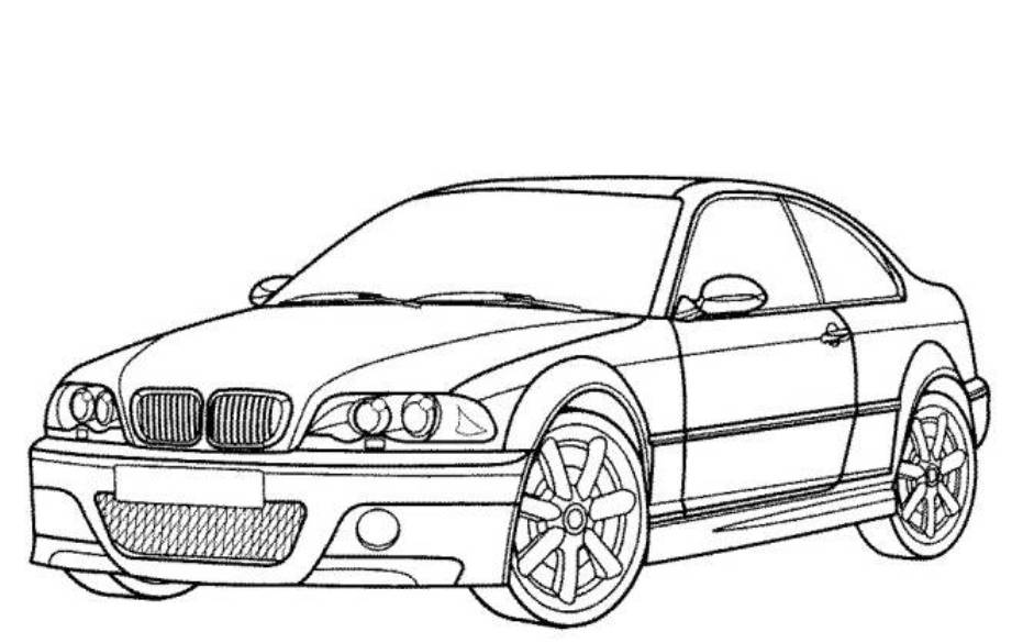 BMW Car Pictures to Color Printable Coloring Pages for