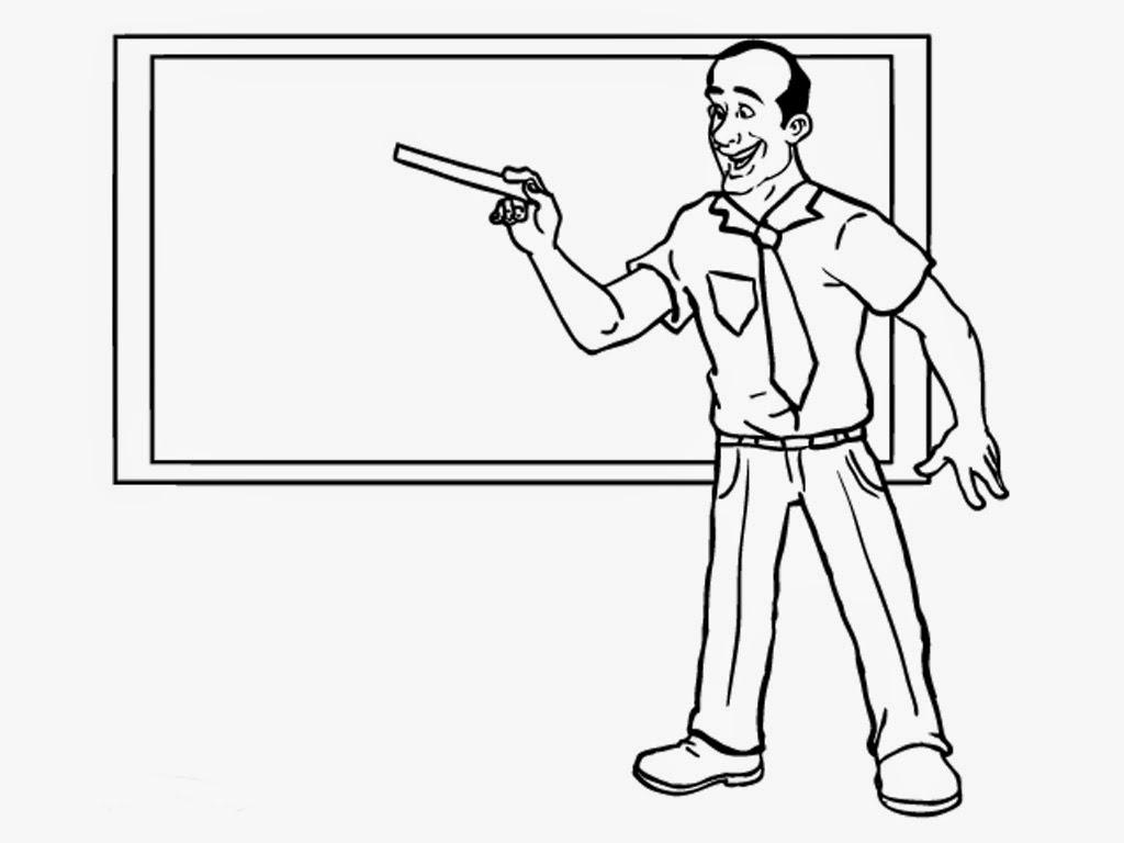 Men Teacher Coloring Online Pre school