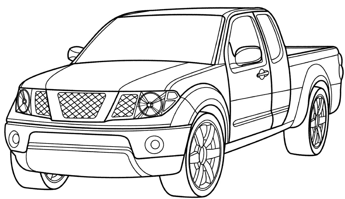 Nissan Titan Truck Printable Coloring Pages for Kids (1
