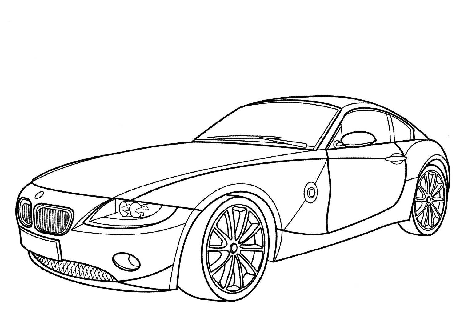 Racing Bmw Car Pictures To Color 1 Pictures