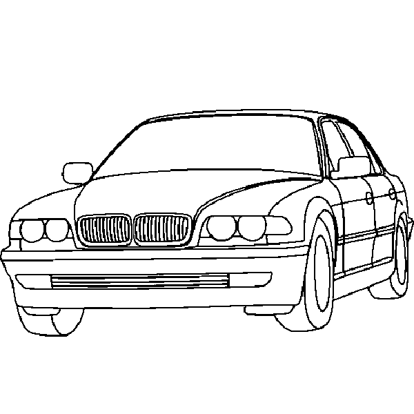 Sedan BMW Car Pictures to Color Printable Coloring Pages