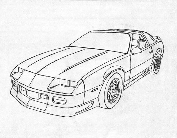1989 Camaro Coloring Cars